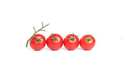 Tomate quatre rouge organique Photo stock