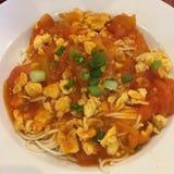 Tomate Ramen Lizenzfreie Stockfotos