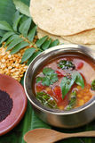 Tomate rasam, indische Südsuppe Lizenzfreie Stockfotos