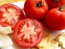 Tomate-Rezept Stockfoto