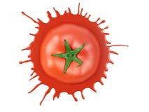 Tomate rouge avec la tache illustration de vecteur