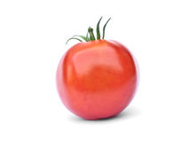 Tomate rouge, d'isolement Photo stock