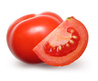 Tomate rouge d'isolement. photos stock