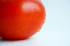 Tomate rouge sur un fond blanc Photo pour la conception Photographie stock libre de droits