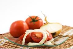 Tomate Salat-flacher dof Lizenzfreie Stockfotografie