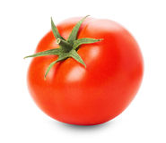 Tomate savoureuse d'isolement sur le fond blanc Image libre de droits