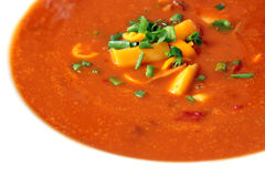 Tomate-Suppe Stockfoto