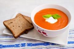 Tomate-Suppe Stockbild