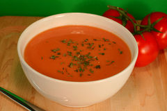 Tomate-Suppe Lizenzfreie Stockfotografie