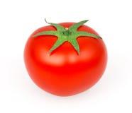Tomate sur le blanc Photographie stock