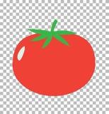 Tomate sur transparent Signe de tomate Image libre de droits