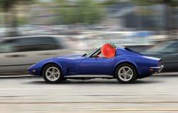 Tomate treibt Auto an Stockfotos
