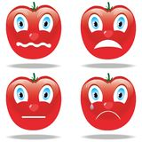 Tomate triste do smiley Fotos de Stock
