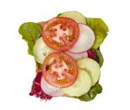Tomate- u. Gurkesandwich Lizenzfreies Stockfoto