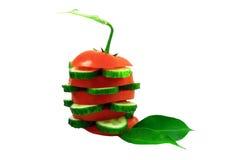 Tomate und Gurke. Lizenzfreies Stockbild