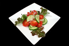 Tomate-und Gurke-Salat Lizenzfreie Stockfotografie