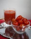 Tomate und juce Lizenzfreie Stockbilder