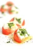 Tomate und Käse Stockbild