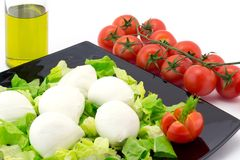 Tomate- und Mozzarellasalat Lizenzfreies Stockbild