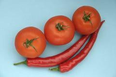 Tomate und Paprika lizenzfreie stockbilder