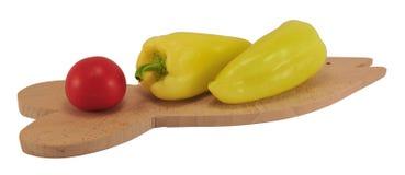 Tomate und Pfeffer Stockfotos