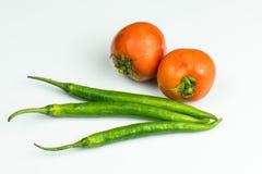 Tomate und Pfeffer frisch Stockfoto