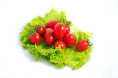 Tomate und Salat stockbild