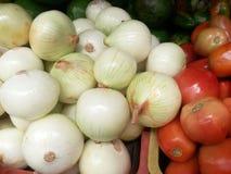 Tomate und Zwiebel Lizenzfreies Stockfoto
