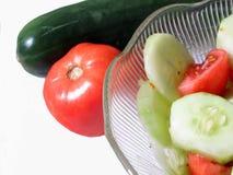Tomate y Cucumer Foto de archivo