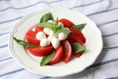 Tomate y mozzarella Fotografía de archivo libre de regalías