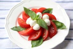 Tomate y mozzarella Imagen de archivo