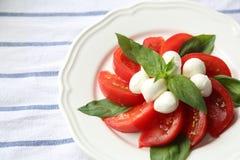 Tomate y mozzarella Imagen de archivo libre de regalías