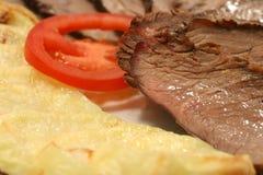 Tomate y patata de la carne Imágenes de archivo libres de regalías