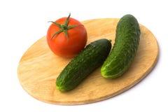 Tomate y pepino Imagen de archivo libre de regalías