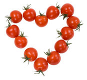 Tomatekirsche in Form von dem Inneren Stockbild