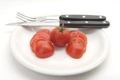 Tomatemittagessen stockfotografie