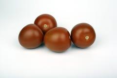 Tomaten auf einem weißen Hintergrund Stockfotos