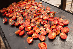 Tomaten auf Grill Lizenzfreies Stockbild