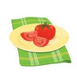 Tomaten auf Platte Lizenzfreie Stockfotos