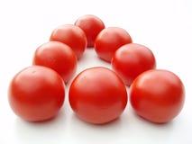 Tomaten auf weißem Hintergrund Stockfotografie