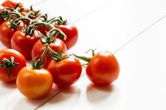 Tomaten auf weißem Hintergrund Lizenzfreie Stockfotografie