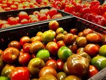 Tomaten in den Kästen Lizenzfreies Stockfoto