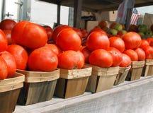 Tomaten in den Körben Stockbild