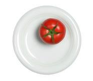 Tomaten in der Platte Stockfoto