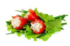 Tomaten die met vlees worden gevuld Stock Fotografie