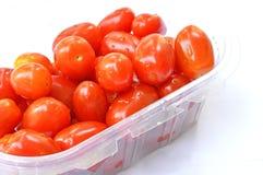 tomaten in doos Stock Fotografie