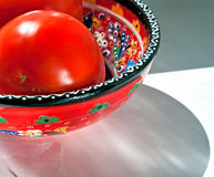 Tomaten in een kom Royalty-vrije Stock Afbeelding