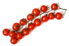 Tomaten eine Kirsche. Stockfotos
