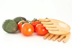 Tomaten en avodacos Royalty-vrije Stock Afbeeldingen