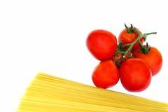 Tomaten en deegwaren Stock Afbeelding